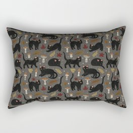 autumn cat magic Rectangular Pillow