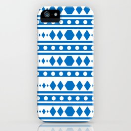 Blue Tribal Pattern iPhone Case