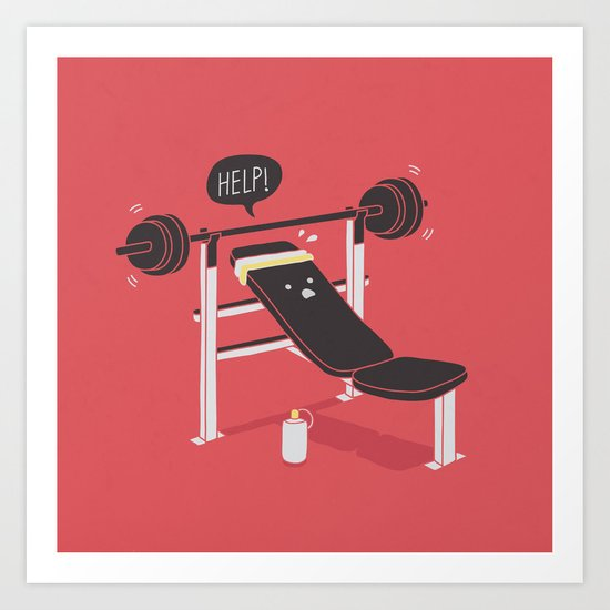 But he's always at the gym... Art Print