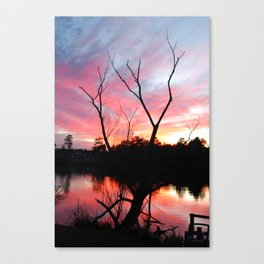 JAN SUN SET Canvas Print