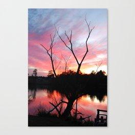 JAN SUN SET Canvas Print