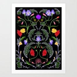 Nocturnal Garden Art Print