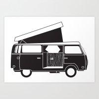 vw bus Art Prints featuring VW bus by kirsten bingham
