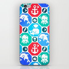 Marine Animals Geometric Pattern iPhone & iPod Skin