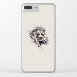 Buddha (Brown Version) Clear iPhone Case