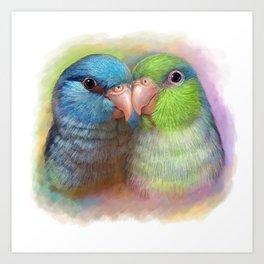 Pacific parrotlet parrot realistic painting Art Print