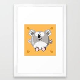 Koala bear from the circle series Framed Art Print