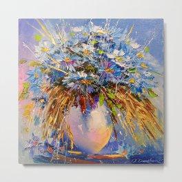 Bouquet of cornflowers Metal Print