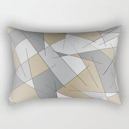 ABSTRACT LINES #1 (Grays & Beiges) Rectangular Pillow