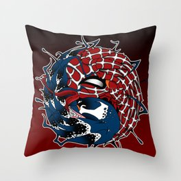 venom yin yang Throw Pillow