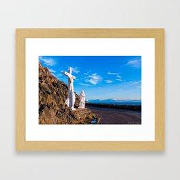 Crucifixion of Christ - Slea Head Road - Ireland Framed Art Print