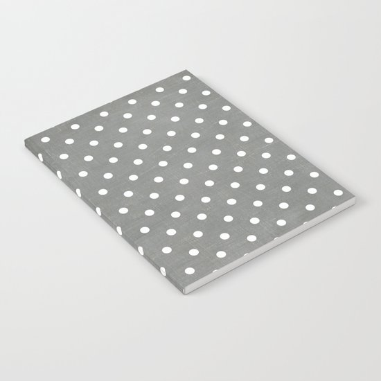 dark gray swiss dots Notebook