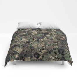 Ahegao camouflage Comforters