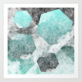 flatland 3 (blue) Art Print