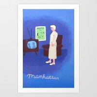 manhattan Art Prints featuring Manhattan by charker