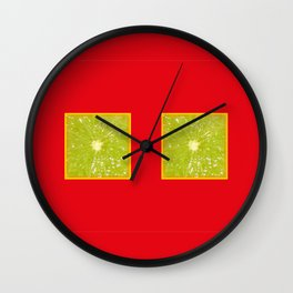 Lime Eyes – Strange Fruits Wall Clock