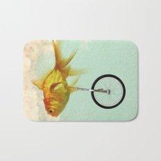 unicycle goldfish 02 Bath Mat