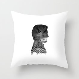 Agent Cooper Collage Art Throw Pillow