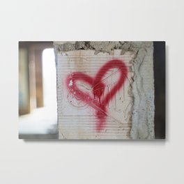Love the Abandoned Metal Print