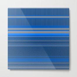 Bright Blues with Grey Stripes Metal Print