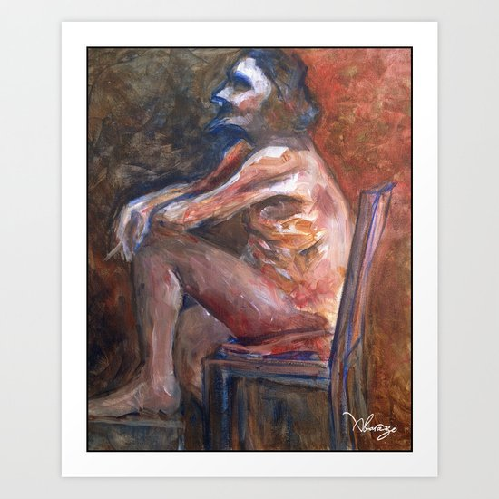 Life figure painting Art Print