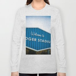 Welcome to Dodger Stadium | Los Angeles California Nostalgic Iconic Sign Art Print Tapestry Long Sleeve T-shirt