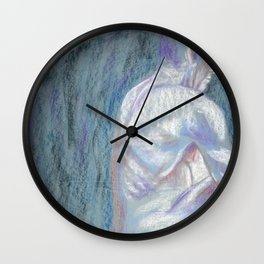Abstract Man - Life Drawing - 1 Wall Clock