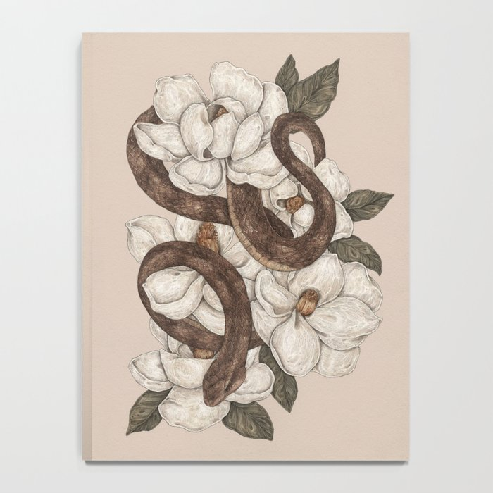 Snake and Magnolias Notebook