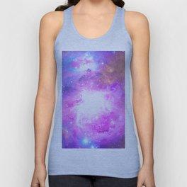 Colorful Pastel Pink Nebula Purple Galaxy Stars Unisex Tank Top