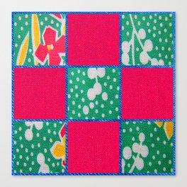 Pink & Teal print Canvas Print
