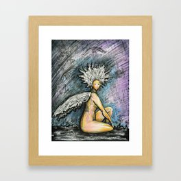 forty six aka Birdlady Framed Art Print