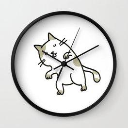 sleeping kitty Wall Clock