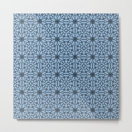 Airy Blue Lace Metal Print