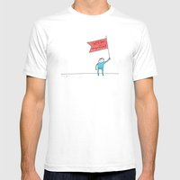 let's be magnificent White MEDIUM Mens Fitted Tee
