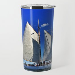 Sailboat and Bug Light in Casco Bay, Maine Travel Mug