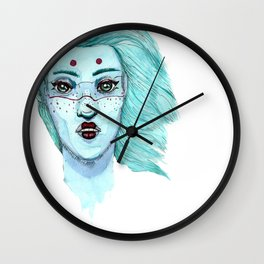 Her eyes Wall Clock