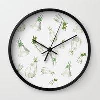cactus Wall Clocks featuring Cactus by Barbara Amaral