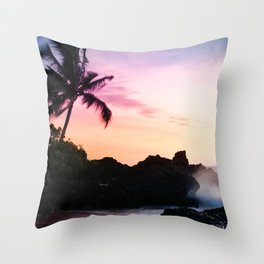 Paako Beach Sunset Jewels Throw Pillow