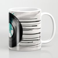 vinyl Mugs featuring infinite vinyl by Vin Zzep