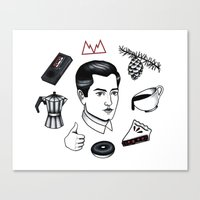 dale cooper Canvas Prints featuring dale cooper collage by Bunny Miele