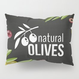 Olives retro poster #6 Pillow Sham