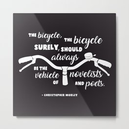 Bicycle Poet Metal Print