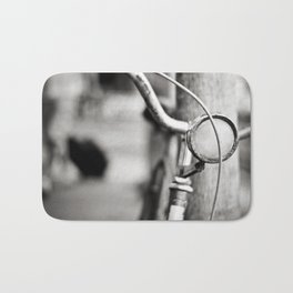 Bicycle B/W Bath Mat