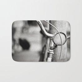 Bicycle B/W Bath Mat