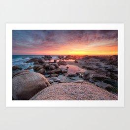 Camps bay sunset Art Print