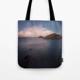 Mumbles lighthouse Swansea Tote Bag