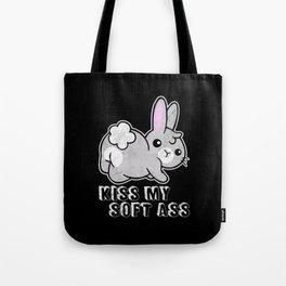 Kiss My Soft Ass Rabbit Tote Bag
