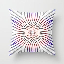 Vibrant Floral spoke pattern Throw Pillow