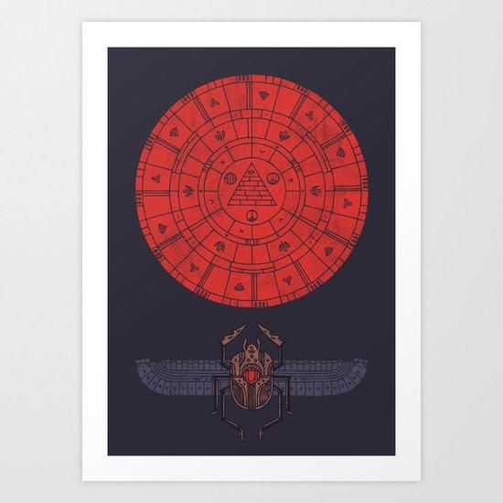 Sacred Sun Art Print
