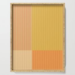 Color Block Line Abstract IV Serving Tray